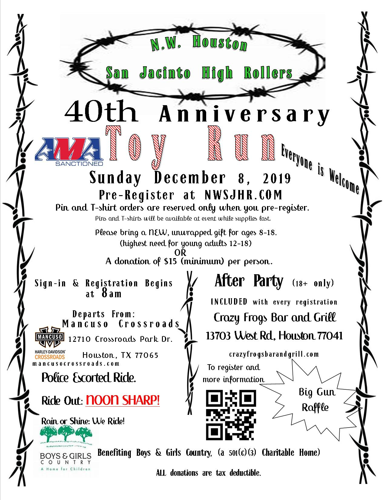 Toy Run 2018 Flier