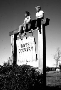 Boys on Boys Country sign